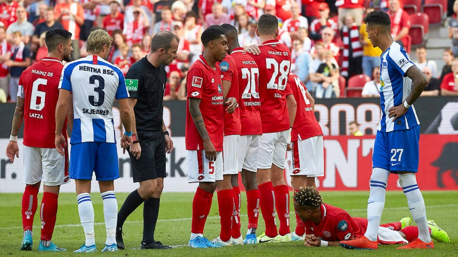 Energisches Spiel: Mainz besiegt Berlin in der Bundesliga knapp.