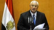 Der ägyptische Übergangspräsident Adli Mansur