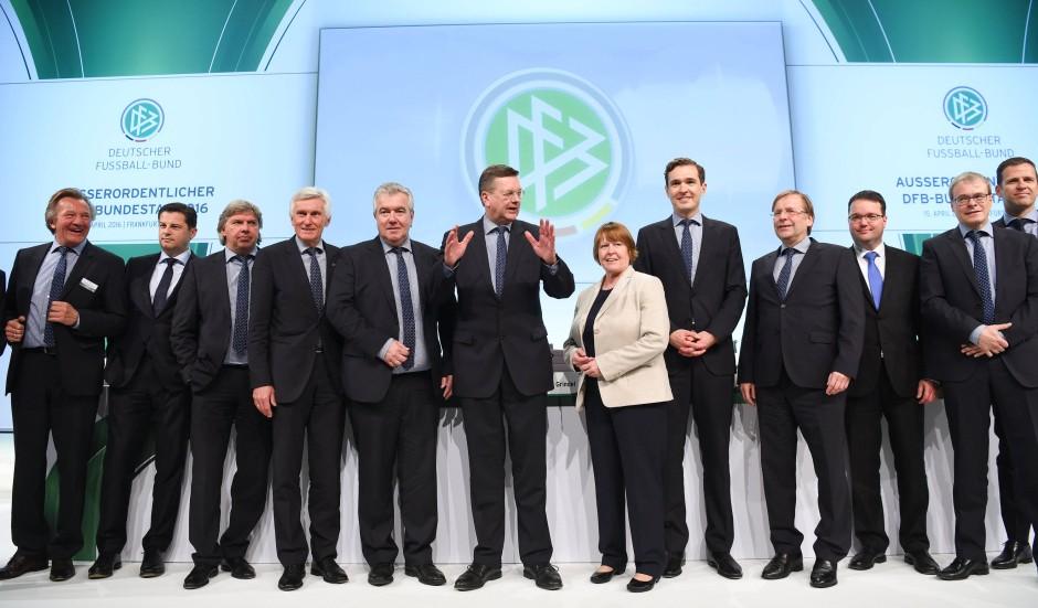 Grindel und seine Mannschaft: Das DFB-Präsidium.