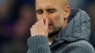 Für Pep Guardiola geht es mit Manchester City jetzt vor allem um die Meisterschaft in England.