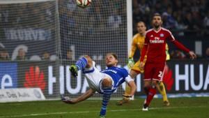 Nur Huntelaars Unterschrift sorgt für Schalker Freude