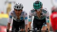 Fuhr abermals ganz vorne mit: Emanuel Buchmann (rechts) bei der Tour de France