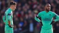 Mesut Özil (links) und Arsenal hatten nicht ihren besten Tag.