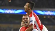 Podolski rettet Arsenal - Real erobert Anfield