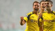 Strahlende Gesichter: Dem BVB gelingt der Auftakt in der Champions League