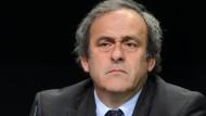 """""""Ich bin der geeignetste Kandidat"""": Michel Platini."""