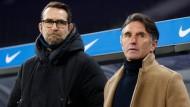 Im Fokus: Hertha-Trainer Bruno Labbadia (rechts) und Michael Preetz, hier im Dezember