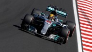 Lewis Hamilton verlor Punkte im Kampf gegen Sebastian Vettel.