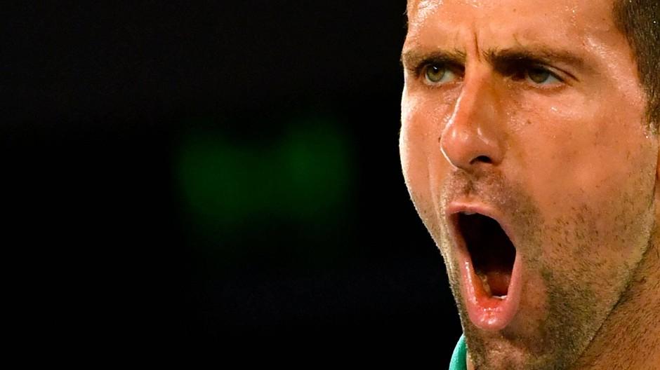 Jubelschrei in Melbourne: Novak Djokovic steht mal wieder im Endspiel.