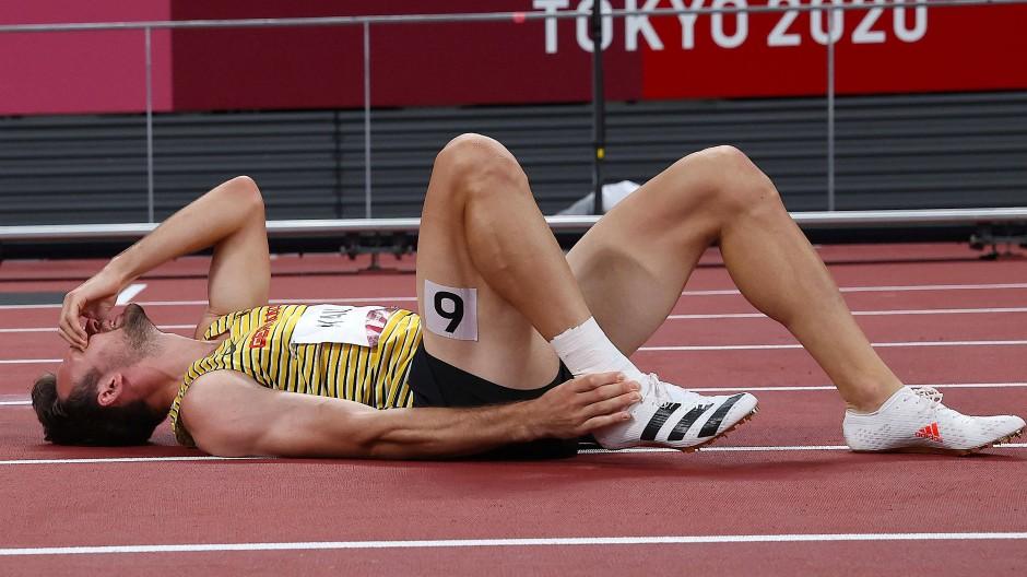 Das bittere Ende seiner Olympia-Träume: Niklas Kaul am Boden