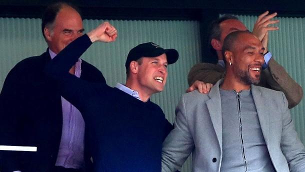 Prinz William bejubelt Aufstieg im Millionen-Spiel