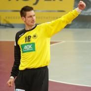 Großer Rückhalt: Handball-Nationaltorwart Carsten Lichtlein bei der WM in Qatar