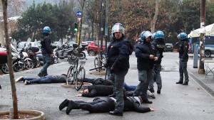 15 Eintracht-Fans festgenommen