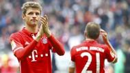 Applaus, Applaus? Die Bayern und Thomas Müller sind zwar Erster, spielen aber schwächer als zuvor.