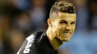 Das war wieder nicht sein Abend: Cristiano Ronaldo blieb in Vigo torlos.