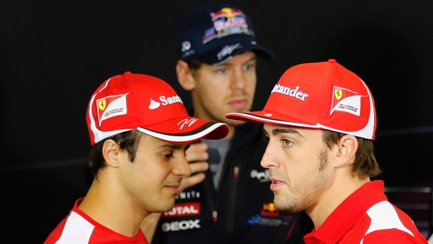 Ferrari-Rot gegen Red Bull: Massa und Alonso jagen Vettel
