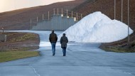 Fast kein Schnee in Sicht: Die Biathlon-Strecke in Oberhof Ende Dezember