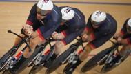 Bradley Wiggins (vorn) fuhr in Rio in der Teamverfolgung zu Gold