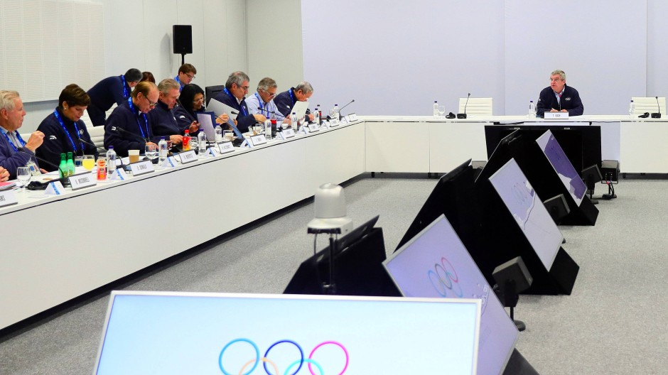 Der Ort ohne Entscheidung: die Sitzung des IOC-Exekutivkomitees.