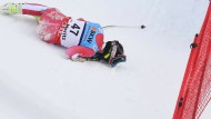 Olivier Jenot stürzte beim Super-G in St.Moritz schwer.