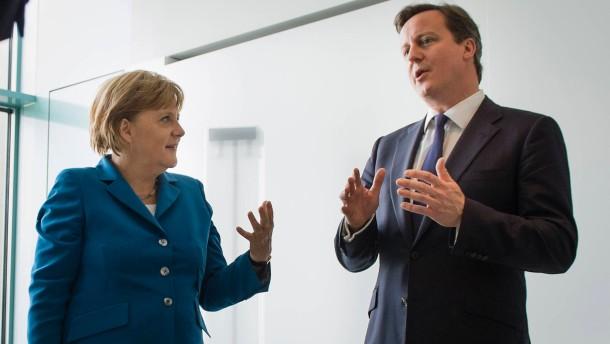 Merkel spricht mit Cameron ueber EU-Haushalt
