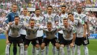Die Mannschaft: Gegen Mexiko auf dem falschen Fuß erwischt.