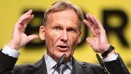 BVB-Chef Hans-Joachim Watzke, hier 2018, blickt unsicheren Zeiten entgegen.