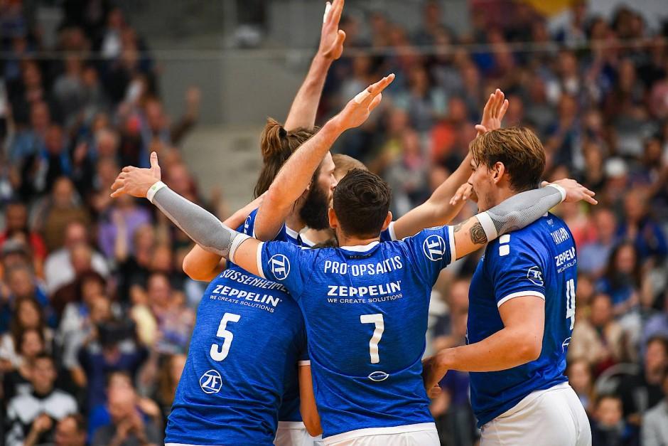 Sieggewohnt, aber selten gefordert: der deutsche Pokalsieger VfB Friedrichshafen