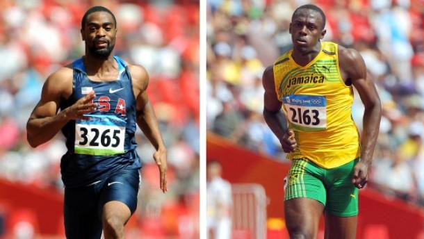 Leichtathletik-WM - Tyson Gay und Usain Bolt