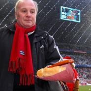 Bei Uli Hoeneß gab's beim Fußball noch vor allem Wurstwaren.