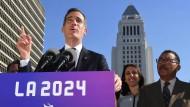 Donald Trump erschwert die Olympia-Bewerbung von Los Angeles um Bürgermeister Eric Garcetti (Bild).