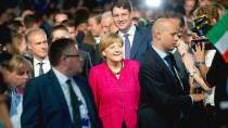 Am Abend in Inzell: Bundeskanzlerin Angela Merkel