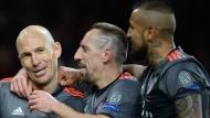 5:1 und 5:1: Die Bayern bezwingen Arsenal zweistellig.