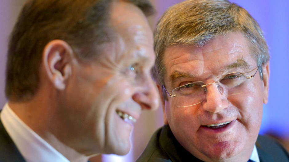 DOSB-Präsident Alfons Hörmann und IOC-Präsident Thomas Bach, hier 2013