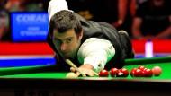 Der berühmteste Snooker-Spieler der Welt: Der 39 Jahre alte Engländer Ronnie O'Sullivan ist immer hoch konzentriert