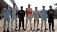 Das waren noch Zeiten: 2010 fuhren Rosberg, Hülkenberg, Glock, Sutil, Heidfeld, Schumacher und Vettel (von links) gemeinsam