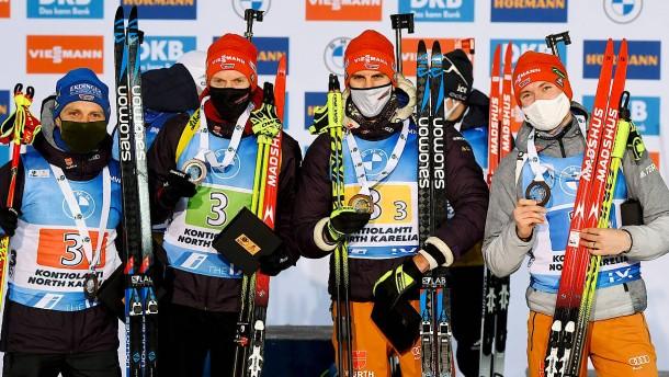 """Eine """"durchweg positive Tendenz"""" im Biathlon"""