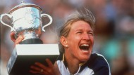 Der 22. und letzte: Steffi Graf nach dem spektakulären Sieg gegen Martina Hingis bei den French Open 1999