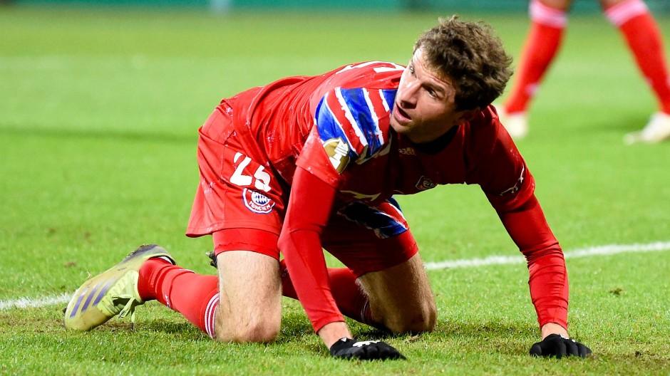 Konnten es kaum glauben: Thomas Müller und der FC Bayern im Pokal