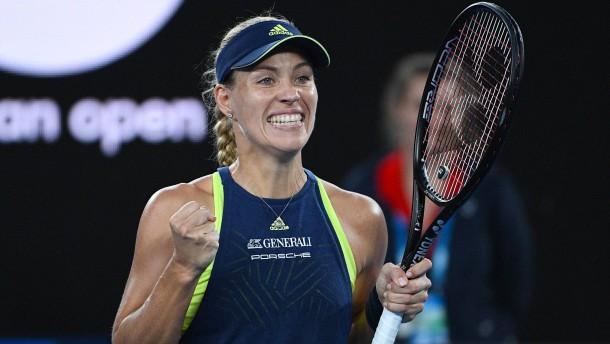 Australian Open: Kerber hat mit Scharapowa keine Probleme