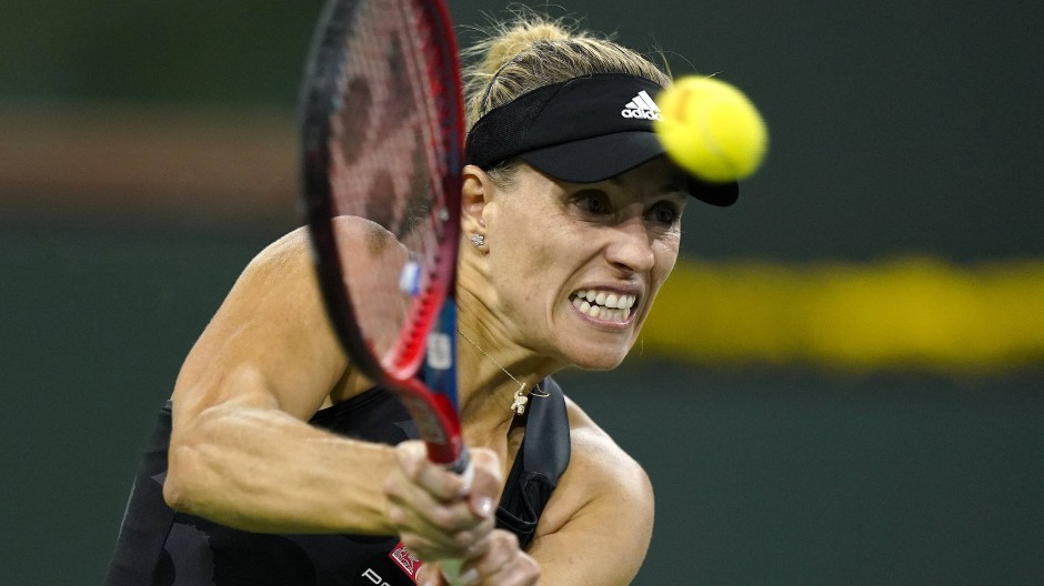 Die Anstrengung wird nicht belohnt: Angelique Kerber scheidet in Indian Wells aus.