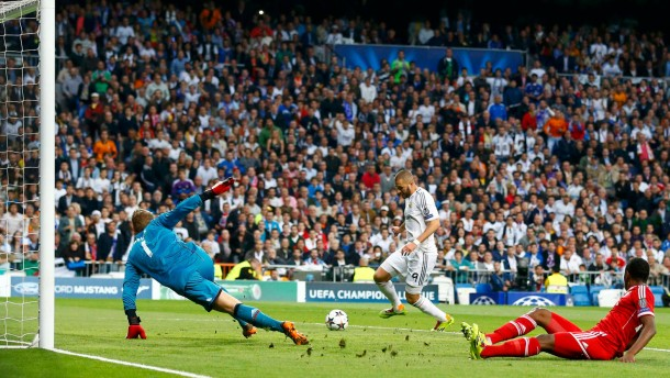 So fällt das Tor: Neuer und Alaba sind chancenlos gegen Torschütze Benzema