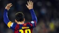 Was hat es zu bedeuten? Lionel Messis Zeichen sind Gesprächsthema