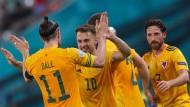 Durften Jubeln: Die Waliser gewannen ihr erstes Spiel bei dieser EM.