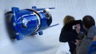 Fährt bald auch schon ein schneller Bob aus China durch den Eiskanal?