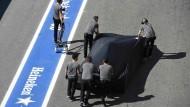 Ein Auto, das nicht fährt: Der McLaren von Alonso
