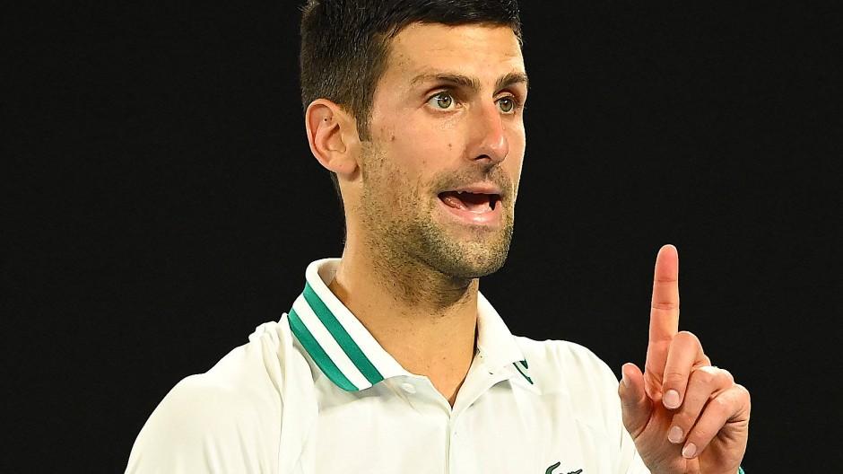 Novak Djokovic strebt schon seinen neunten Titel bei den Australian Open an.