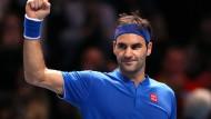 """""""Vielleicht ist es für mich einfacher mit dem Rücken zur Wand"""": Roger Federer."""