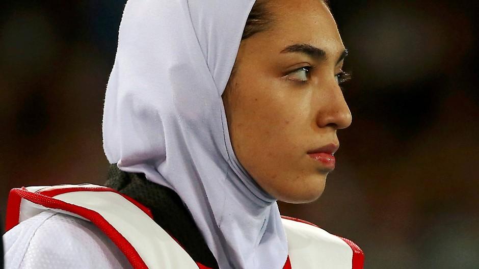 Anklägerin: Die Weltklasse-Taekwondoka Kimia Alisadeh hat ihr Land aus  Protest gegen die Politik verlassen.