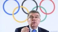 Verärgert wegen der Wada: IOC-Präsident Thomas Bach